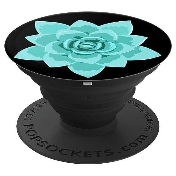 Amazoncom Teal Lotus Flower On Black For Yoga Meditation