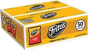 Fritos Corn Chips, Regular, 1 oz Bags (Pack of 50)