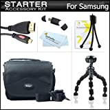 Starter Accessories Kit For The Samsung WB750, EX2, EX2F Digital Camera Includes Deluxe Carrying Case + 7 Flexible Tripod + Micro HDMI Cable + USB High Speed 2.0 SD Card Reader + LCD Screen Protectors + Mini TableTop Tripod + MicroFiber Cleaning Cloth