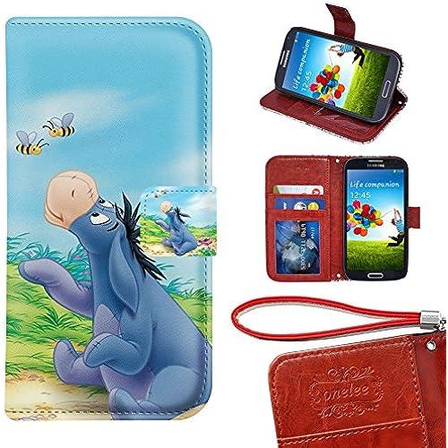 Samsung Galaxy S7 Wallet Case, Onelee - Disney Winnie the Pooh Eeyore Premium PU Leather Case Wallet Flip Stand Case Cover for Samsung Galaxy S7 with Card Sales