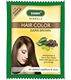 Bakson's Sunny Herbals Hair Colour Dark Brown - 20G - Pack Of 5