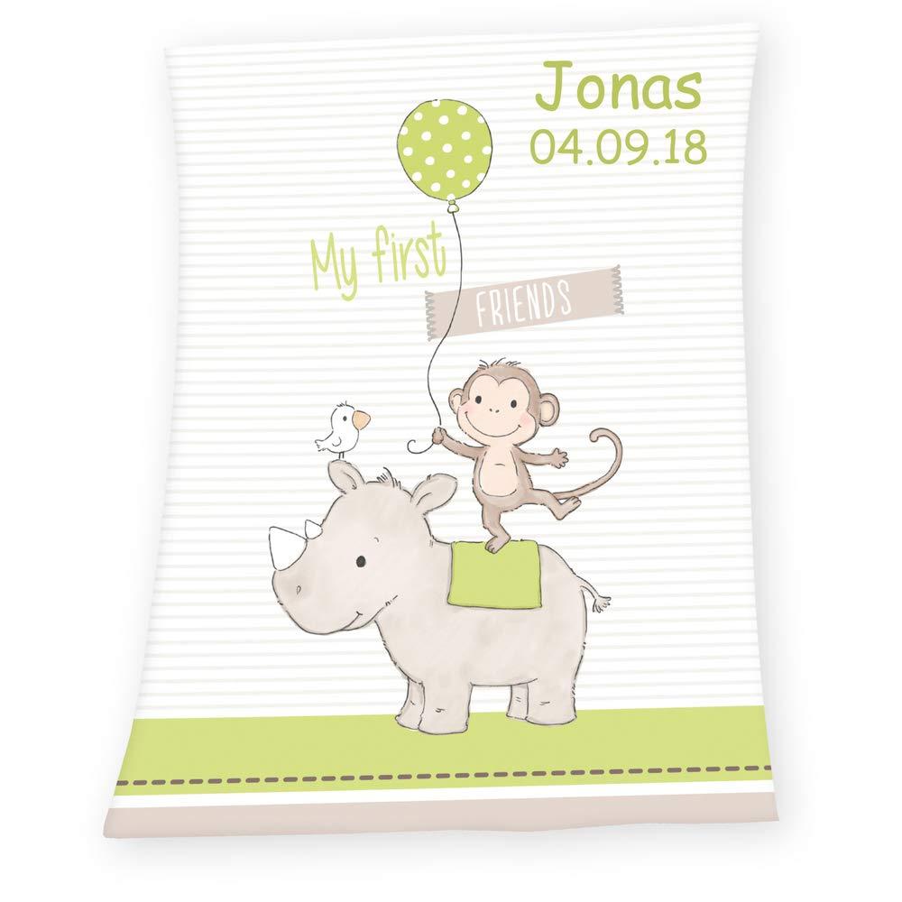 Sigikid Babykissen mit Namen bestickt Kissen 33x18 cm Geschenk zur Taufe Geburt Schnuggi