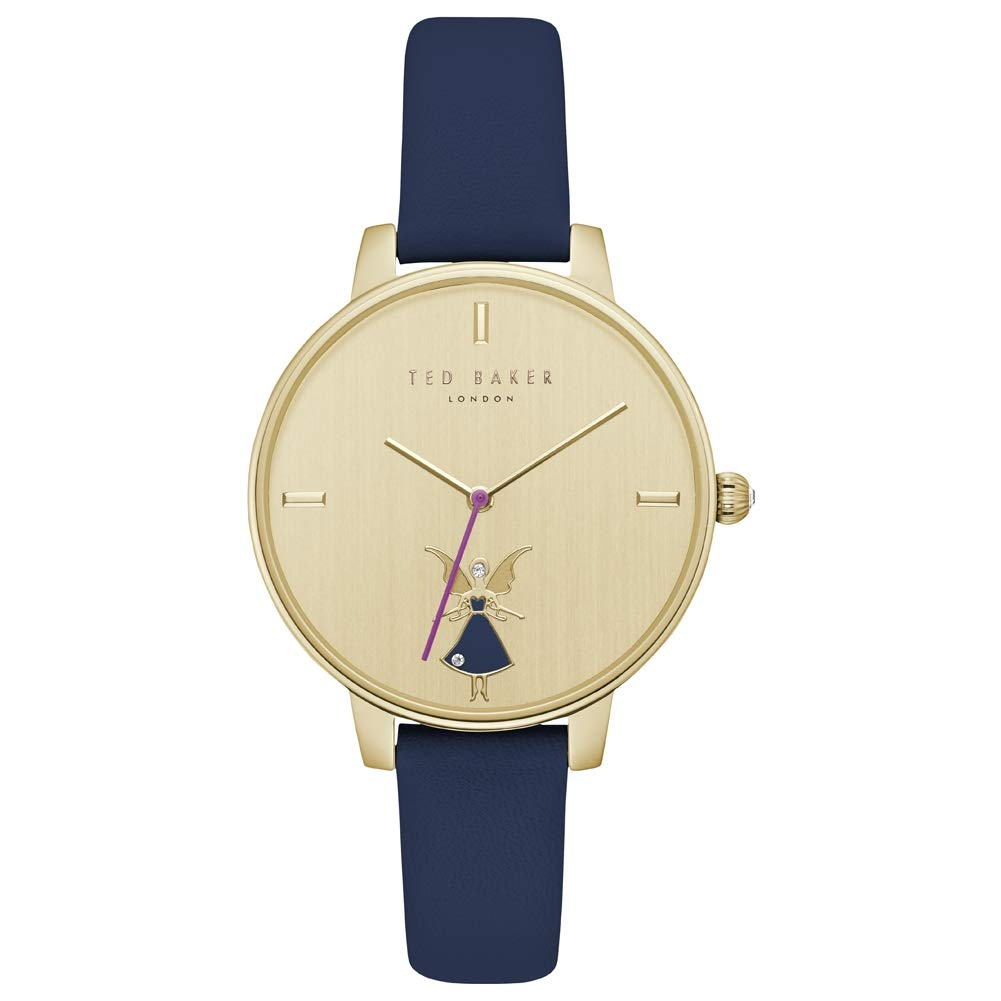 2c0f7124f Ted Baker Kate Fairy Analogue Quartz Ladies Watch With Blue Leather Strap  TE15162005  Amazon.co.uk  Watches