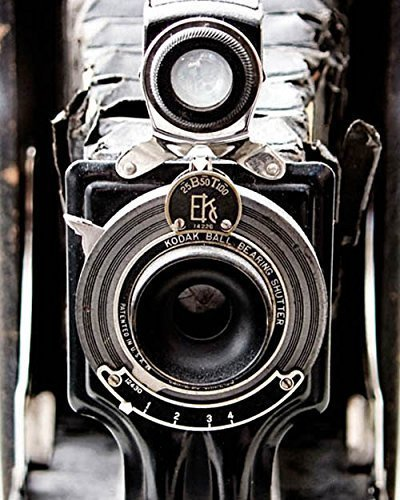 Antique Camera Photo black and white photography rustic decor 11x14 inch print