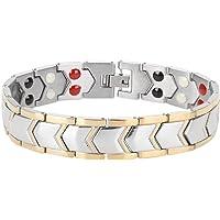 Pulseras Magneticas Titanio, Pulsera Magnetica para Adelgazar Ajustable