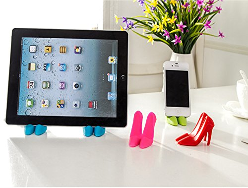 ZLMC Creative Mobile Phone Stands Mounts Holder Cute High Heels stand Shoes Shaped for Cell Phone Multifunctional Cellphone Smartphone Tablet (Red)