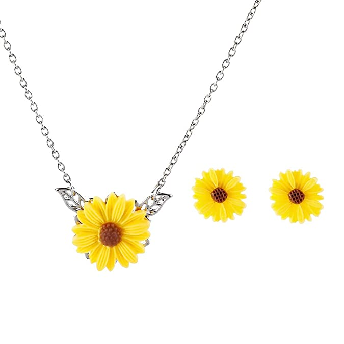 Lovely Sunflower Jewelry Set O...