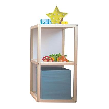 2c3cd2237f8 Kit Mobiliario Cubo Doble Montessori Infantil Estante Libreros Nordico de  Madera Organizador