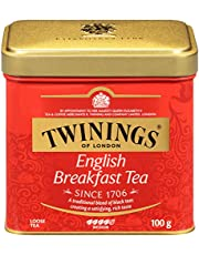 Twinings of London English Breakfast Loose Tea Tins, 3.53 Ounce (Pack of 6)