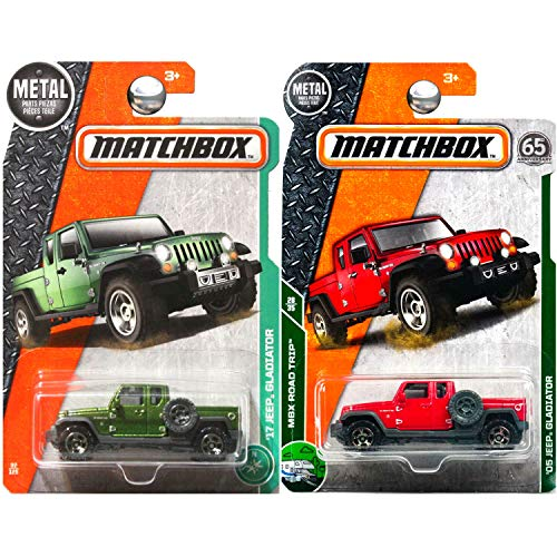 Matchbox Jeep Gladiator in Red and Green Set of 2