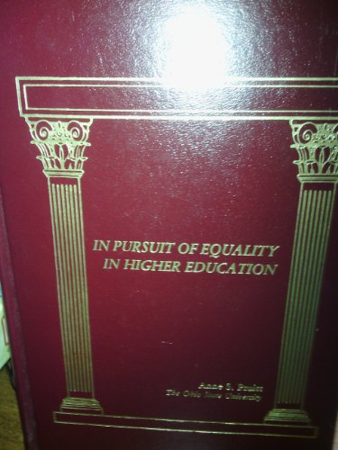 Books : In Pursuit of Equality in Higher Education