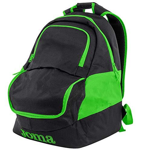 Joma Diamond II Fluoro Style Soccer Backpack (Black/Fluoro Green)