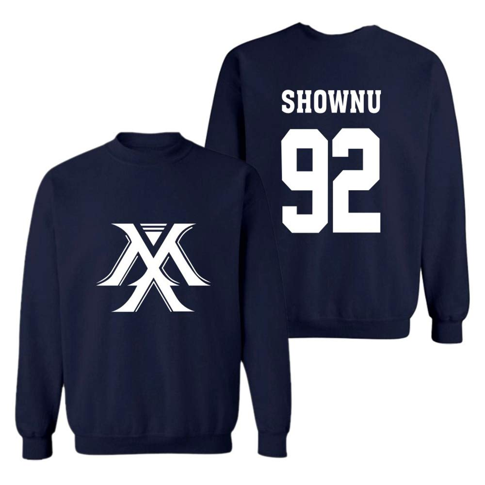 Tgfkjgnbf Monsta X Pullover Trend Bottoming Shirt Fashion Wild Pullover Cotton Comfortable Shirt Unisex