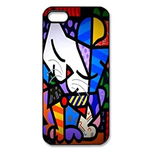 Custom Your Own Personalised Lovely Cat Romero Britto Graffiti Chalk Art iPhone 5 Best Durable Case Cover