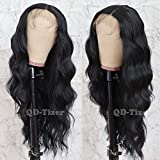 QD-Tizer Black Long Loose Curly Wave Lace Front