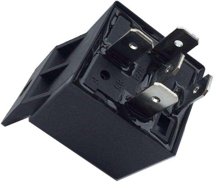 INGHU Relais de Voiture 12V 40A Commutateur en Plastique Automobile Normalement Ouvert Auto Socket /Électronique /Étanche Noir T/ête Accessoires Lumi/ère Changement 4 Broches