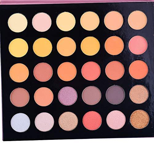 Euone Eyeshadow, Shimmer Glitter Eye Shadow Powder Palette M