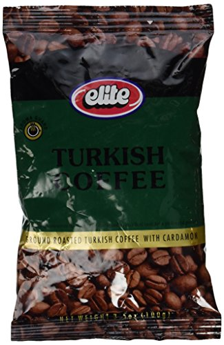 ELITE Turkish Coffee With Cardamon 3.5 Oz. (1 Clique)
