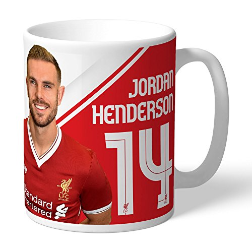 Autographs Henderson (Liverpool Official Personalized Henderson Autograph Mug - FREE PERSONALISATION)