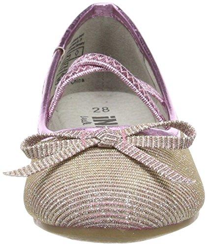 Indigo Schuhe 422 265, Bailarinas con Punta Cerrada Para Niñas Rosa Rosa (Rose)