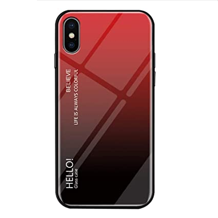 Amazon.com iPhone XR Case,Gradient Tempered Glass Back