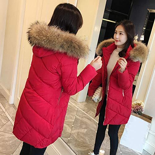 Invernale Calda Lunga Cappotto Cappotti Giacca Giubbotto Sottile Cappuccio Cappotto Eleganti Moda Rosso Donna Donna Solido Cappotto con Casual Donna VICGREY Giacche IZxwYI