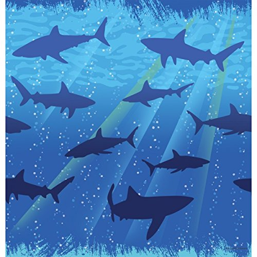Shark Splash Tablecover Plastic 54'' x 108'' 6ct