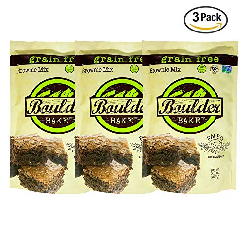 Boulder Bake Brownie Mix, Grain and Gluten Free, Vegan, Non GMO, Low Carb, (3 pack)