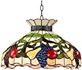 Ripe Fruit 3-Light Tiffany Style Glass Pendant Light