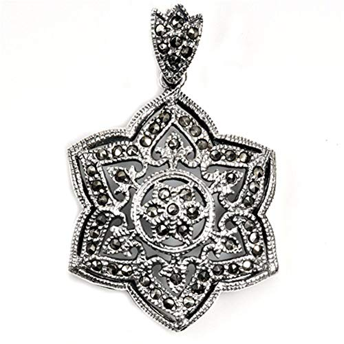 - Star Pendant Simulated Marcasite .925 Sterling Silver Cutout Charm Jewelry Making Supply Pendant Bracelet DIY Crafting by Wholesale Charms