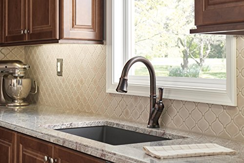 Delta Faucet 9178T-RB-DST Leland, Single Handle Pull-Down Kitchen Faucet With Touch2O, Venetian