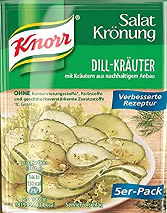 Amazon Com Knorr Salat Kronung Dill Krauter Salad Herbs And Dill 5 Count Packets Salad Dressings Grocery Gourmet Food