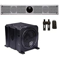 Wet Sounds Package - White Stealth 6 Ultra HD Sound Bar w/ Remote and AS-6 6 250 Watt Powered Stealth Subwoofer