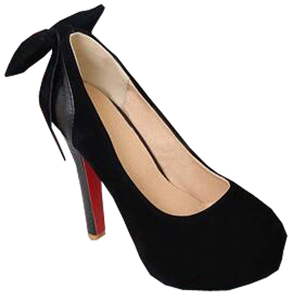 2015 New Heels Prinzessin Bow Schuhe Sexy Hochzeit Schuhe Mode Frauen-runde Zehe-Plattform-Pumpen