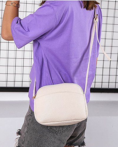 Bag Beige Strap Small Womens Color Cross Solid Square Pink With Package Adjustable Shoulder Body BW4FaW