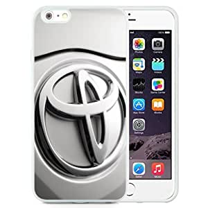 Easy Set,Customized Iphone 6 Plus Case Design with Toyota Logo Iphone 6 Plus TPU 5.5 Inch White Cell Phone Case
