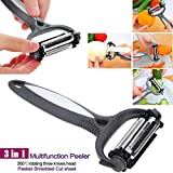 Hello22 Hot 3 in 1 Rotary Fruit Vegetable Carrot Potato Peeler Cutter Slicer New Peelers