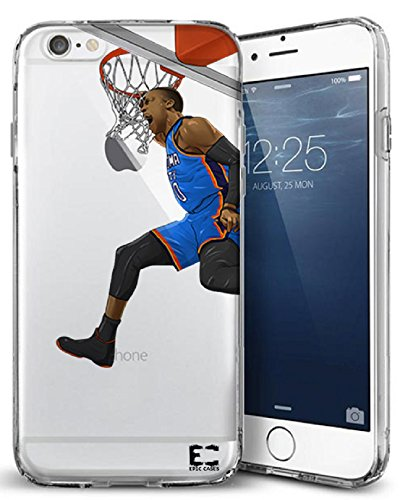 Epic Cases iPhone 6 Plus Case, for Apple iPhone, Ultra Slim Transparent Dominate the Basketball Court Series - Russ MVP, Clear Sports Case (iPhone) … (iPhone 6 (Mlb Mvp Crystal)