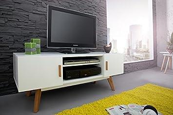 Design tv möbel weiss  DuNord Design TV-Board Lowboard skandinavisches Design Stockholm ...