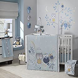 Lambs & Ivy Night Owl Happi by Dena Girl's 4 Piece Bedding Set
