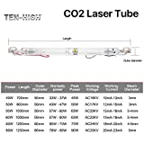 Ten-high AC110V Glass Laser Tube 40W CO2 700mm