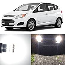 Alla Lighting 2pcs Super Bright 921 White LED Bulbs Back Up Reverse Light Replacement for 2013~2016 Ford C-MAX