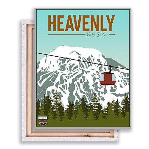 Heavenly - Ski Resort - Lake Tahoe - Heavenly Print - Modern Illustration - Home Decor - Wall Art (Lake Tahoe Heavenly)