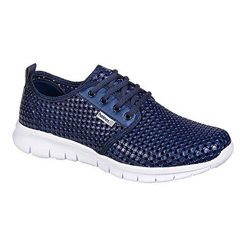 Holees Roamer Chaussures De Sport Homme - Confort (Bleu Marine - Blanc)