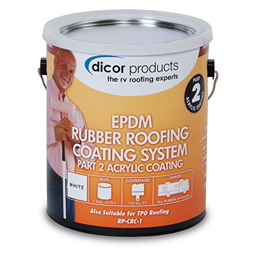 Dicor RP-CRCT-1 EPDM Roof Acrylic Coating - 1 Gallon, Tan