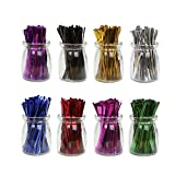 HRX Package 4'' Metallic Twist Ties Good for Cello Wedding Party Candy Bags (8 Colors of 6400pcs)