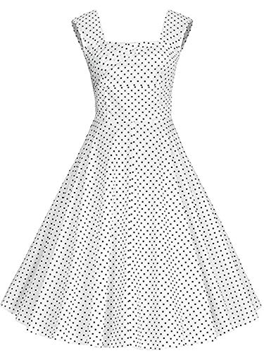 KILOLONE Womens 1950 Plus Size Dress Christmas Party Retro Vintage Dress Rockabilly Pinup Cocktail Swing Dresses