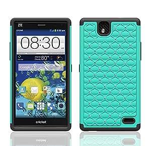ZTE Grand X Max/Z787 Case, Dual Layer Diamond Hybrid Case ZTE Grand X Max/Z787 (TEAL ON BLACK SKIN)