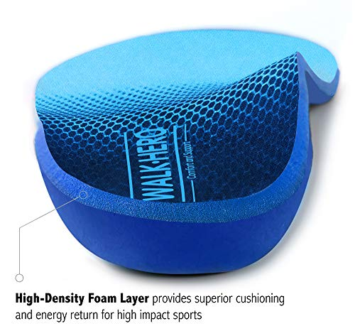 Plantar Fasciitis Feet Insoles Arch Supports Orthotics Inserts Relieve Flat Feet, High Arch, Foot Pain Mens 13-13 1/2 by WalkHero (Image #4)