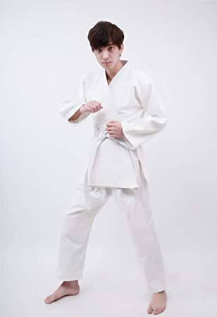 AMhuui Uniforme de Karate Blanco de Artes Marciales ...